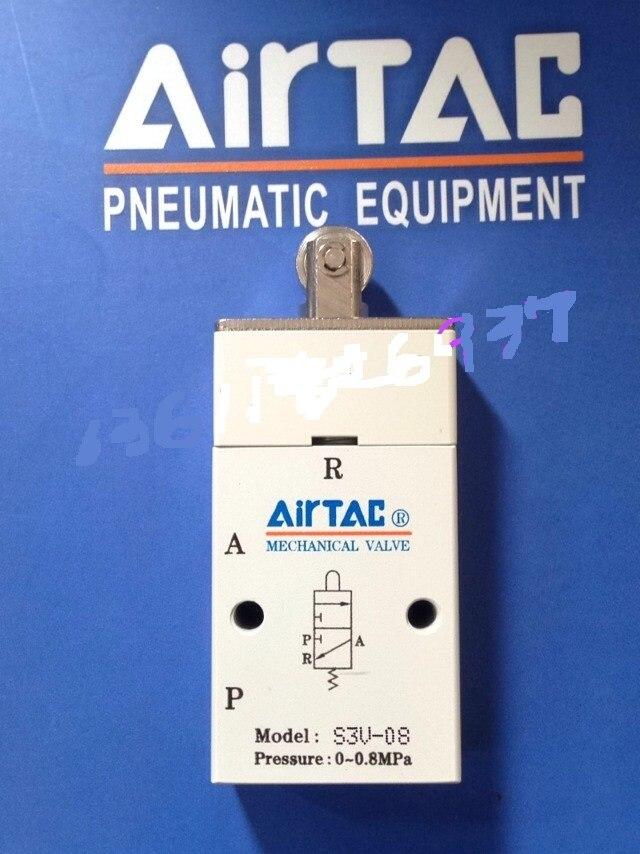 Supply AirTac genuine original mechanical valve S3V-08.<br>