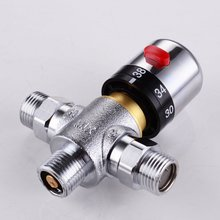 "Solid brass 3-Way Thermostatic Mixing Valve 1/2"" IPS Male Connections for shower bidet spray(China)"