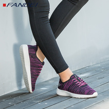 FANDEI autumn light running shoes women sneakers breathable sport shoes woman mesh lace up yeezys air zapatillas deporte mujer(China)