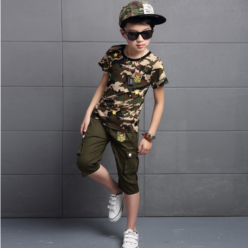New arrived Fashion Boy Sport Army Suits Children Clothes for Baby Boy Camouflage for Teenage Kids Leisure Child Clothing sets<br><br>Aliexpress