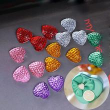 Acrylic Heart drill Starry Heart shaped diamond Tin plate Personalized DIY Candy boxes wedding decorated Fitting