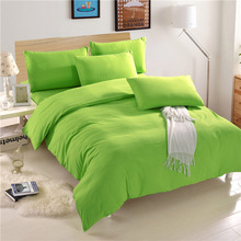 Pink Green Solid Home Hotel Bedding Set Cotton 3pcs/4pcs Duvet Cover Bed Sheet Sets Bedspread Bed Linens Home Textile YMBS03(China)