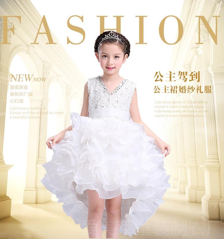 flower girl dresses for weddings Tulle Sequin Cake  Girl Dress Princess Party Birthday Evening Dress girls clothing <br>