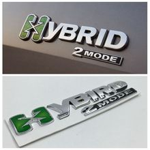 New Style X Hybrid 2Mode Metal Badge Emblem Logo Sticker For Chevrolet Escalade Tahoe GMC S107