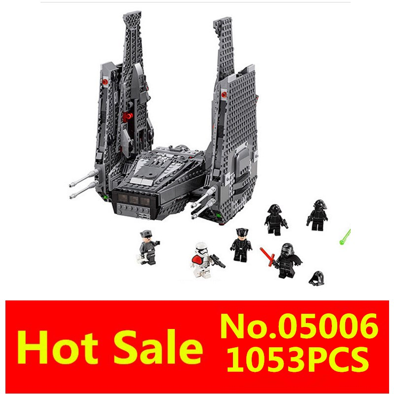 LEPIN 05006 1053Pcs with original box Star Wars The Force Awakens Kylo Ren Command Shuttle Building Blocks compatible with Legoe<br><br>Aliexpress