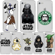 Star Wars R2D2 BB8 Stormtrooper Coffee Darth Vader Phone Case for iphone X 5S 6 7 8 6S PLUS 10 5 SE Silicone Soft Capinha Cover(China)