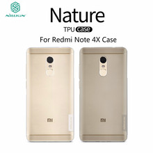 Redmi Note 4X Case 5.5 inch NILLKIN Nature Clear TPU Transparent Soft Back Cover Case For Xiaomi Redmi Note 4X Phone Bag