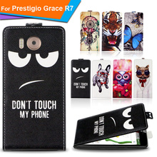 Newest For Prestigio Grace R7 Factory Price Luxury Cool Printed Cartoon 100% Special PU Leather Flip case cover,Gift