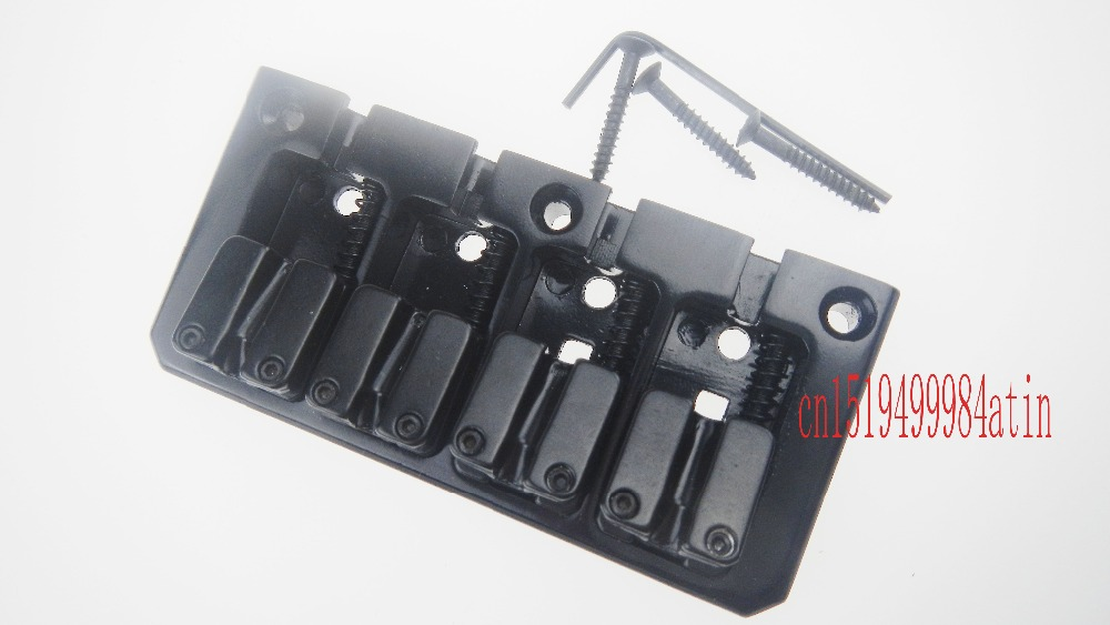 Vintage L Shape 4 String Saddle Electric Bass Bridge / Top Load or Strings through body Black(China (Mainland))