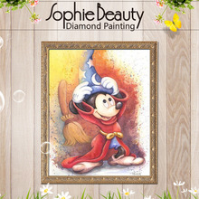 Diy diamond painting cross stitch diamond embroidery children bedroom cute cartoon Mickey Mouse point diamond mosaic painting