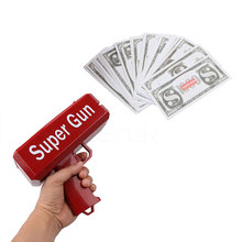 Cash Cannon Money Gun Funny Money Gun Fashion Toy Make It Rain Money Gun Red Christmas Gift Toy Pistol Children Posing Cool Gift(China)