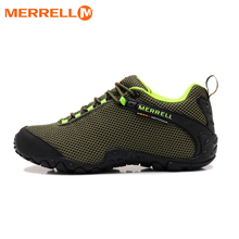 Original Merrell Men Breathable Camping Outdoor Sport Mesh Hiking Shoes For Male Army Green Mountaineer Climbing Sneakers 39-44(China)