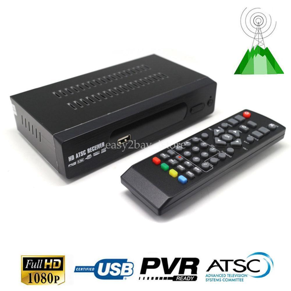 Canada Market Digital Analog Converter Media Player and USB Recording1080P ATSC Terrestrial Broadcast Tv Box Receiver Antenna <br>
