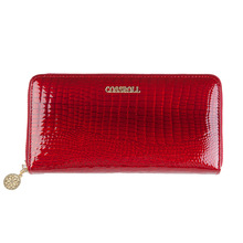 Brand Women Wallet Alligator Vintage Cow Leather Designer Zipper Organizer Wallets Female Card Holder Coin Purse Ladies Clutch
