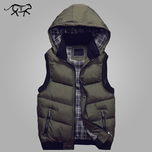 New Stylish Autumn Winter Vest Men High Quality Hood Warm Sleeveless Jacket and Coat Casual Waistcoat Mens Fashion Vest M-5XL