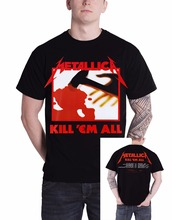 Metallica Kill 'Em All Tracks Men's Black T-shirt T Shirt Gift More Size And Colors(China)