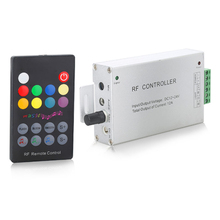Led Music RGB Controller With 18 Key RF Remote Black DC12V-24V Audio Sound 3 Channel*4A 12A LH (C14)