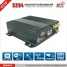 DTY S204-3GW 3G/wifi remotely view 4 Channel H.264 D1 Car Mobile Vehicle Security Dvr(China)