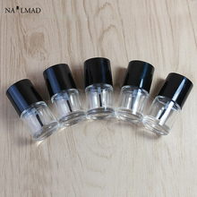 1PC 10ml Nail Polish Bottle Empty Glass Bottle with brush Refillable Bottle For DIY nail polish Nail Art Tools (Random Color)