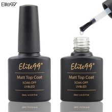 Elite99 10ml Matt Matte Top Coat Nail Gel Polish Nail Art Tips Dull Finish Top Coat Gel Long Lasting Gel Lacquer Matt Top Gel(China)