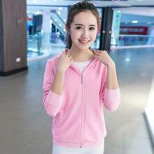 2019 las mujeres ropa deportiva entrenamiento ejercicio suéteres corriendo  Fitness gimnasio Hoodieds sudadera vestido de mujer f68a574368736