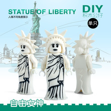 Single Sale Statue Of Liberty New York SUPER HEROES STAR WARS DIY minifig DIY Assemble Building Blocks Kids Xmas Toys Gift
