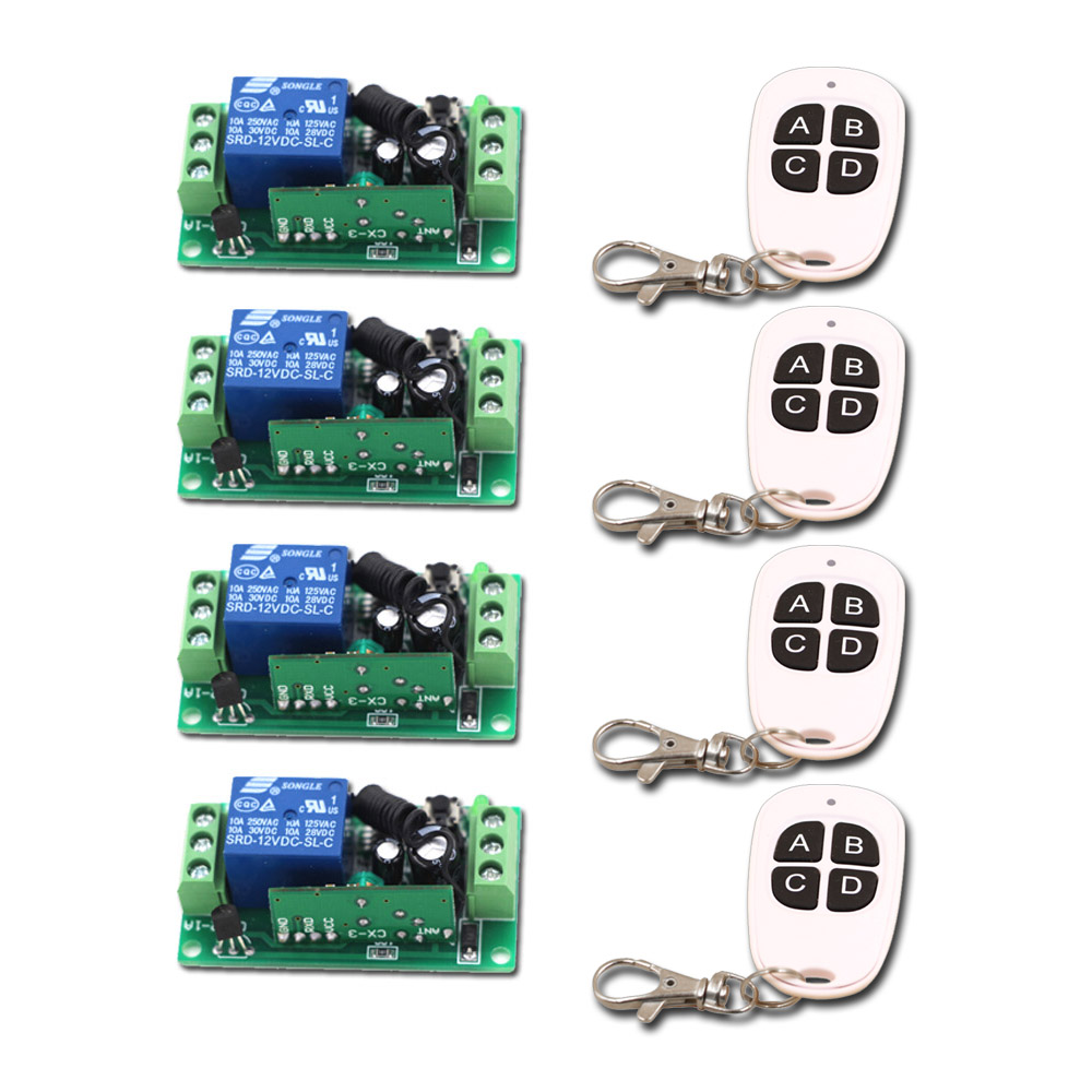 New DC 24V 1CH Channel Relay Wireless Remote Control Switch System Remote Controller 9V 12V Receiver<br>