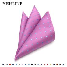 Luxury Polka Dot Men's 100% Silk Handkerchief Hanky Man Jacquard Pocket Square Chest Towel 25*25cm Wedding Party Accessories(China)