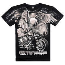 Famous Brand 2017 New Arrival 3D Eagle Printed On Shoulder Camisetas Casual Men's Wear Cotton T shirt Plus Size Free Shipping