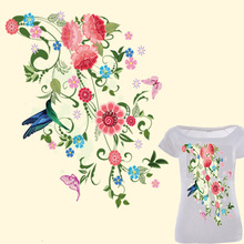 2 pieces / lot women T-shirt Dress Clothes Thermo transfer Printing Offset Pyrograph Design Drawing Hot DIY Patches