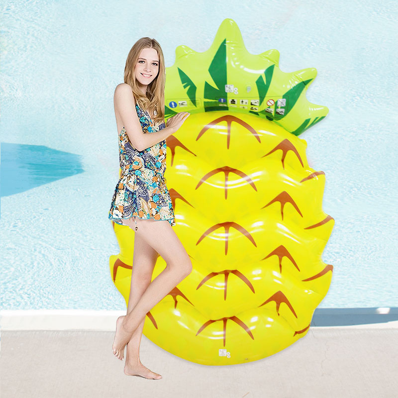 Swimming-Pool-Floats-Pineapple-145CM-Air-Maress-Inflatable-Pool-floats-For-Adults-Pontoon-Floating-Island-Water