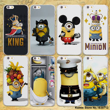 king bob Minions My Unicorn Agnes design hard clear Case Cover for Apple iPhone 7 7Plus 6 6s Plus SE 5 5s Phone Case(China)