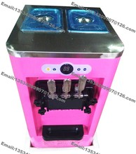 Low Price Small Capacity Mini Table Top Home Commercial 13-18L R22 220v 50Hz 3 Flavor Soft Ice Cream Machine Maker