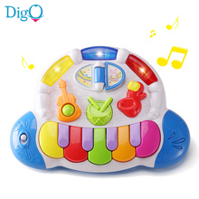2017 New Style Kids Small Pianoforte Musical Instrument Toys Learning Education Baby Colorful Little Electronic Piano D50(China)