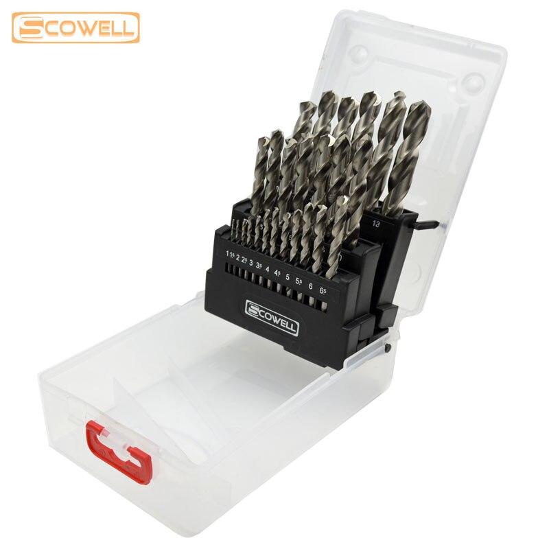 Free Shipping :20%OFF 25pcs HSS Twist drill bits metal box sets,Top Quality DIN338 4341/M2 full ground drill bits wood drilling<br>