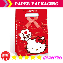 [shenzhen manufacturers] paper bags with logo/ baby birthday/ lovely/Christmas bag/paper sample bag/hello kitty bag#100167large