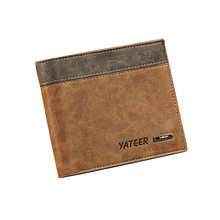 Men's Money Clip Soft PU Leather Wallet Practical Front Pocket Wallet Multiple Card Slots Purses Gift for Men WB70(China)