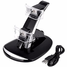 Mini USB LED Light Quick Charger Dock Station Stand For PS3 Controller Charging Dock Stand For PlayStation 3 Controller Console