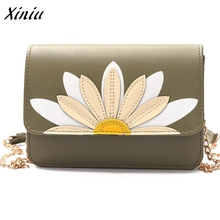Fashion women messenger bag hasp Messenger Bags Lotus Crossbody Shoulder Bags Handbag Small Body Bags bolsas femininas(China)
