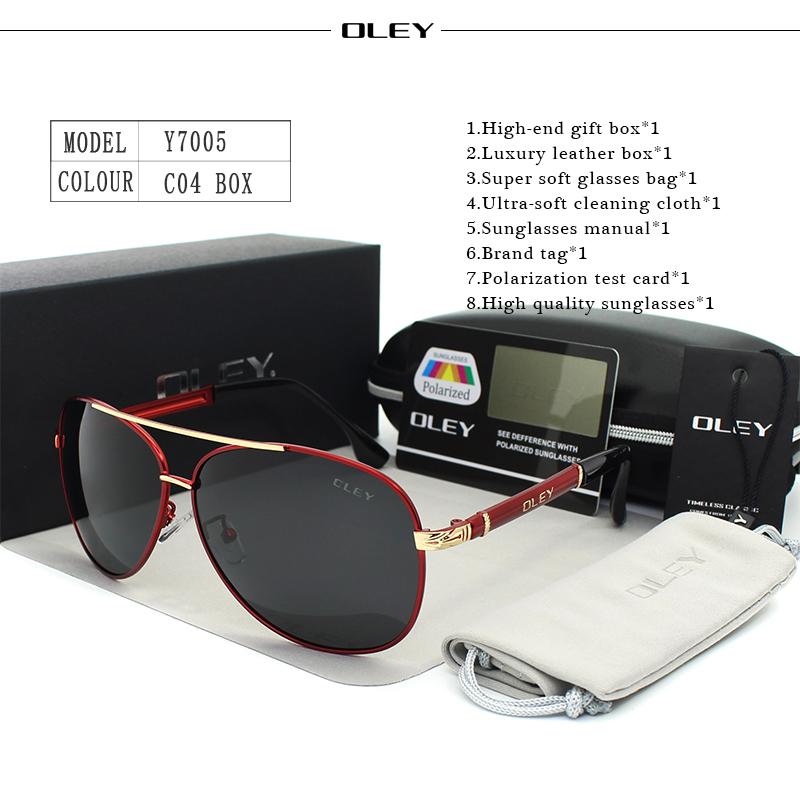 OLEY Luxury sunglasses men polarized Classic pilot Sun glasses fishing Accessories driving goggles gafas de sol zonnebril mannen 12