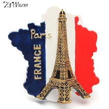 3D Resin Ornaments France Eiffel Tower Paris Pattern Fridge Magnet Travel Souvenir Gifts Home Decoration Resin Crafts Supplies