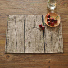 BZ819 Table mats Tableware mats Pads lifelike texture trees photographed background cloth placemat personalized napkins(China)