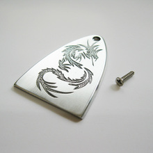 Free shipping Chinese dragon pattern aluminum material handmade truss rod cover for PRS electric guitar(China)