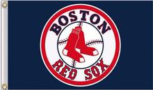 Boston Red Sox MLB Flag 3X5FT Flag Hot Sale Products 90x150 cm Sports Outdoor Flag Brass Metal Custom Flag Holes, Free Shipping