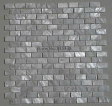 White brick shell mosaic tile mother of pearl kitchen backsplash shower wallpaper bathroom bedroom tiles factory direct sale(China)