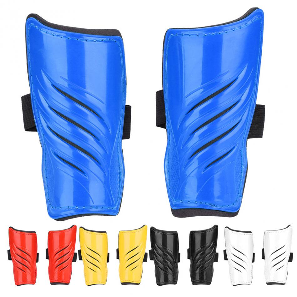 4 Colors 1 Pair Adult Football Legs Protector Soccer Shin Guards Sturdy Lightweight Breathable for Sports