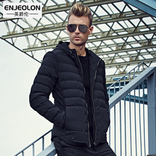Enjeolon 2017 Brand Winter Cotton Padded Hooded Jacket Men Waterproof,Parka Clothing Thick Quilted Coat Mens Hoodies WT0229(China)