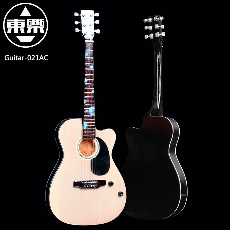 Wooden Handcrafted Miniature Guitar Model guitar-021AC Guitar Display with Case and Stand (Not Actual Guitar! for Display Only!)<br>