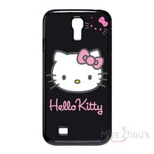 For iphone 4/4s 5/5s 5c SE 6/6s 7 plus ipod touch 4/5/6 back skins mobile cellphone cases cover Hello Kitty Pink And Black(China)