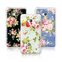 2016 Luxury Floral Painted Case For Microsoft lumia 640 Case Art printed Flower Cell Phone Case For Nokia lumia 640 Cover+Pen